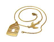 گردنبند مرغ آمین طرح Golden